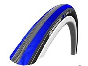 SCHWALBE Lugano Punture Protection Tyre 700 x 23c Black with blue stripe