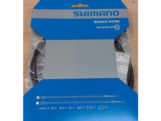 SHIMANO SM-BH90 Banjo style replacement hose Front click to zoom image