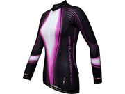 FUNKIER CLOTHING Womens Long Sleeve Thermal Jersey Black - Purple