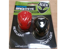 OXFORD Brighteye Alien LED front and rear lightset black and red