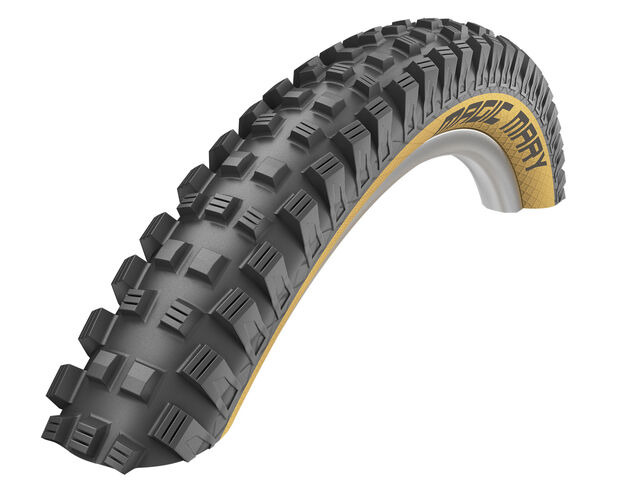 "SCHWALBE Magic Mary TLE Addix Soft Evolution SuperGravity Tyre in Classic Skin (Folding) 27.5 x 2.35"" click to zoom image"