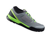 SHIMANO GR7 (GR700) flat pedal MTB shoes, grey/green