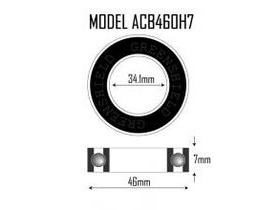 VP COMPONENTS ACB460H7 46 x 34.1 x 7mm Headset Bearing 45/45deg