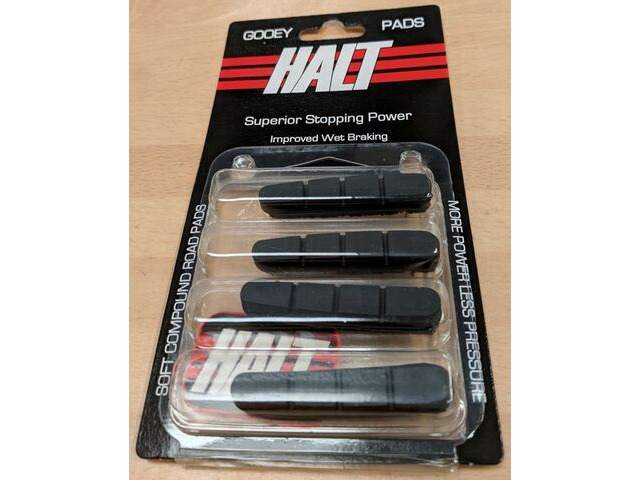 HALT Gooey Replacement Road bike brake pad inserts Black pk 4 click to zoom image