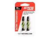 STANS NO TUBES MTB Tubeless Valves Green 35mm