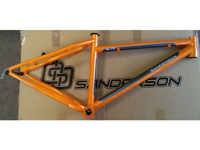"SANDERSON Blitz 27.5"" Steel Harcore Hardtail frame Orange click to zoom image"
