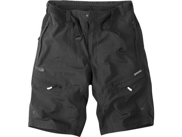 MADISON Trail Baggy short with padded liner in black click to zoom image
