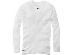 MADISON Isoler mesh men's long sleeve baselayer, white
