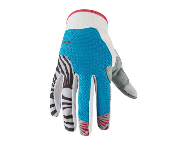 MADISON Flux women's gloves, caribbean blue / rose red click to zoom image