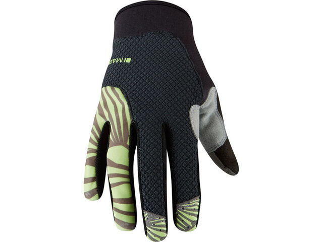 MADISON Flux women's gloves, phantom / sharp green click to zoom image