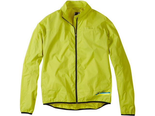 MADISON Flux super light men's packable shell jacket, limeaid click to zoom image