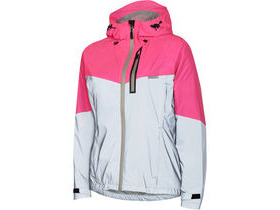 MADISON Stellar Reflective women's waterproof jacket, silver/pink glo