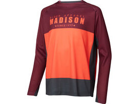 MADISON Alpine youth long sleeve jersey, andorra red/chilli red