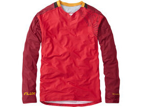 MADISON Flux Enduro men's long sleeve jersey, true red / blood red