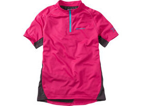 MADISON Trail youth short sleeved jersey, bright berry