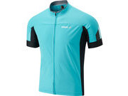 MADISON RoadRace men's windtech short sleeve jersey, blue curaco / black