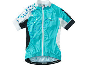 MADISON Sportive women's short sleeve jersey, blue curaco / white