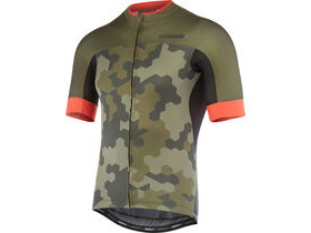 MADISON RoadRace Apex men's short sleeve jersey, dark olive/chilli red hex camo