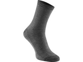 MADISON Assynt merino mid sock, cloud grey herringbone