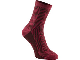 MADISON Assynt merino mid sock, rose red herringbone