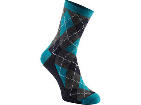 MADISON Assynt merino mid sock, bay blue argyle