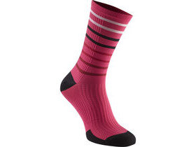 MADISON RoadRace Premio extra long sock, fuchsia stripes limited