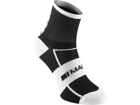 MADISON Sportive men's mid sock twin pack, black / white