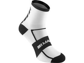 MADISON Sportive men's mid sock twin pack, white / black