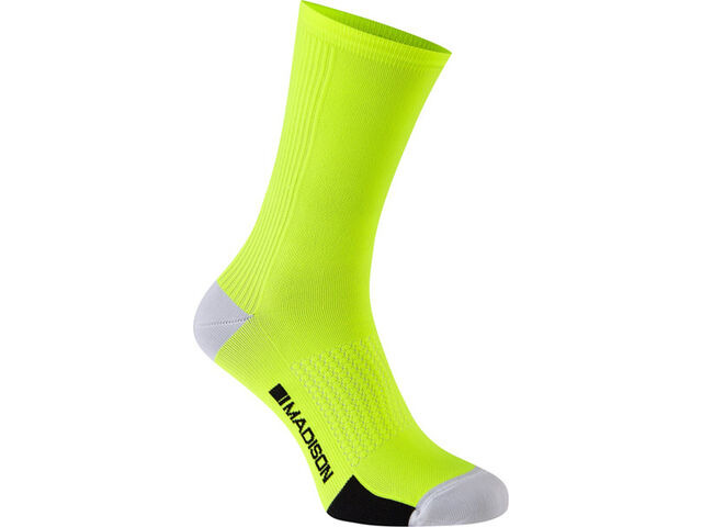 MADISON RoadRace Premio extra long sock, hi-viz yellow click to zoom image