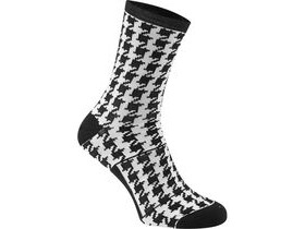 MADISON RoadRace Apex long sock, houndstooth black / white