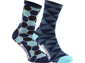 MADISON Sportive Race women's long sock twin pack, blue combo