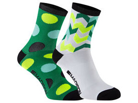 MADISON Sportive women's mid sock twin pack, green combo