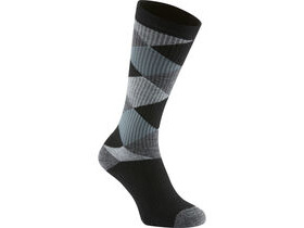 MADISON Isoler Merino deep winter knee-high sock, black argyle