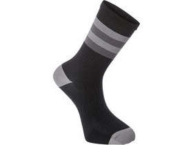 MADISON RoadRace Premio extra long sock, hoops black/cloud grey