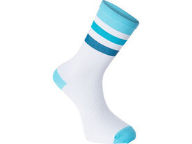 MADISON RoadRace Premio extra long sock, hoops white/blue curaco