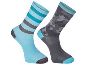 MADISON Sportive long sock twin pack, hex camo blue curaco/phantom