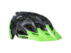LAZER HELMETS Ultrax matt black camo / flash green