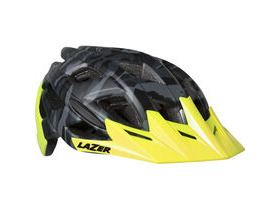 LAZER HELMETS Ultrax matt black camo / flash yellow