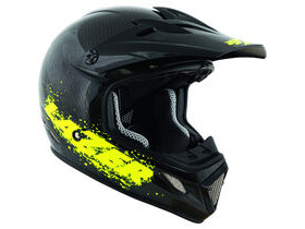 LAZER HELMETS MX7 full carbon / flash yellow
