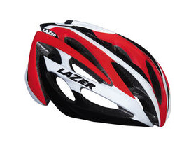 LAZER HELMETS O2 white / red small 2015