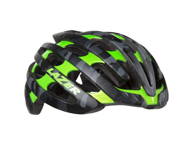 LAZER HELMETS Z1 with Aeroshell matt black camo / flash green click to zoom image