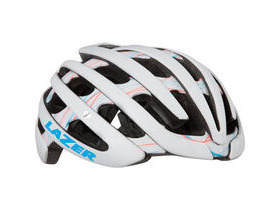 LAZER HELMETS Cosmo with colour matched Aeroshell matt white swirls women's