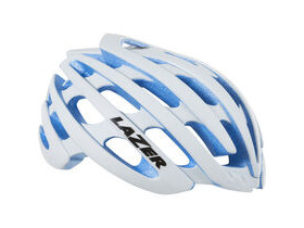 LAZER HELMETS Z1 with Aeroshell white with Blue EPS small helmet 2016