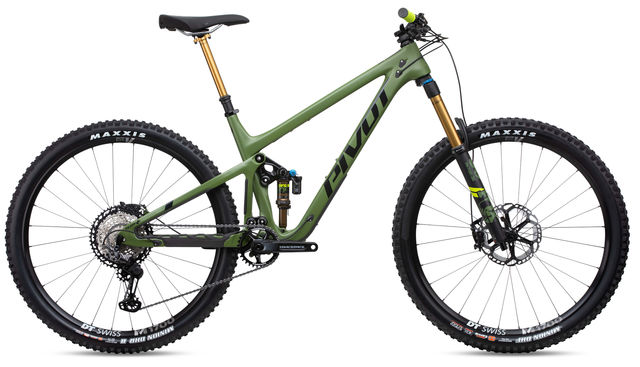 PIVOT CYCLES Switchblade V2 in Treeline Green XT-XTR Pro Build click to zoom image