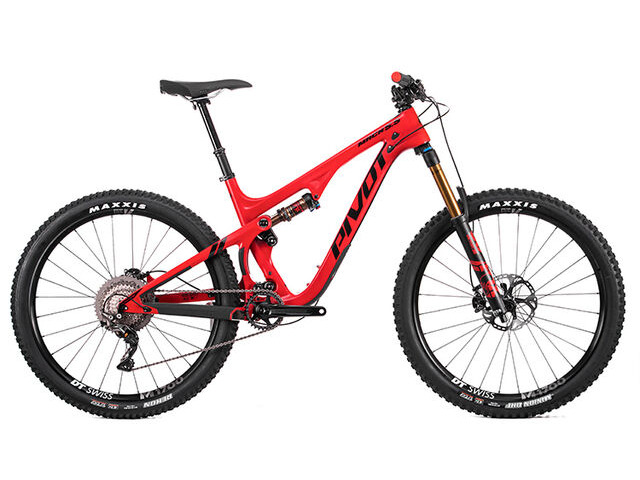 PIVOT CYCLES Mach 5.5 Carbon XT-XTR Pro 1x in Red click to zoom image