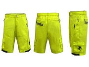 FUNKIER CLOTHING MTB Rider Baggy Short inc Liner Yellow