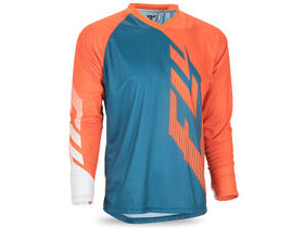FLY RACING Radium Long Sleeve Jersey Teal/Orange/White