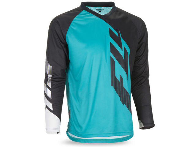 FLY RACING Radium Long Sleeve Jersey Black/Teal/White click to zoom image