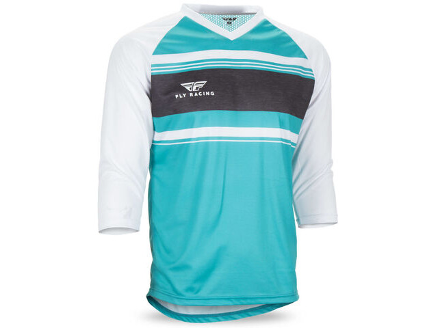FLY RACING Ripa 3/4 Sleeve Jersey Teal/White/Heather click to zoom image