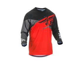 FLY RACING F16 Long Sleeve Jersey Red-Black-Grey